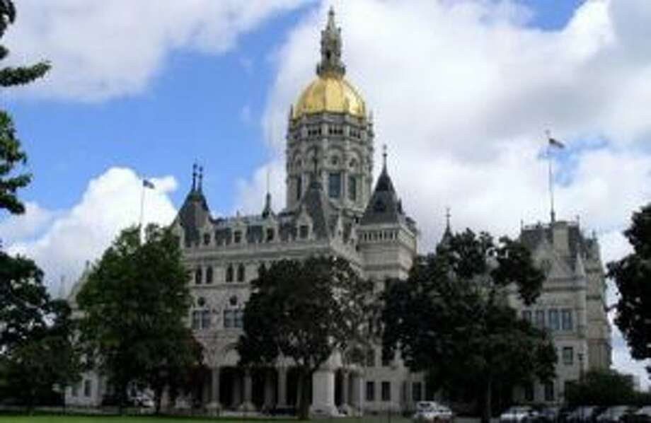"""A State senate candidate, Alexandra Bergstein wants to restructure pensions with a """"shared risk."""" Connecticut State Capitol building in Hartford."""