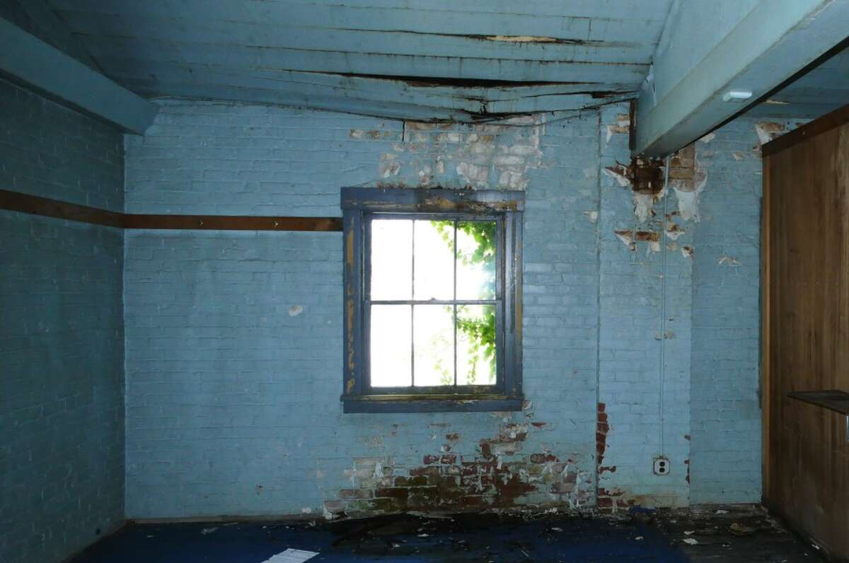 Defenders of the building also said similar buildings were in nearly every town in Connecticut at one time, and it is unknown how many still exist. This is on the second floor, where you can see the roof caving in. - Grace Duffield photo.