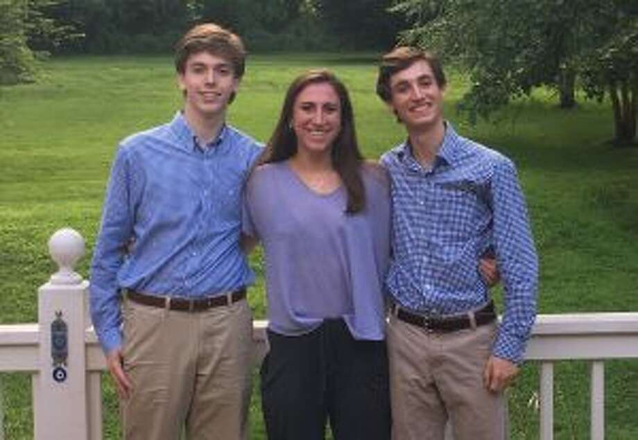 New Canaan: The public is invited to the Voices of Sept. 11's intern presentation. Voices of September 11th high school summer interns: Reid Dahill, Nicole Vanderlee and Cem Geray. — Contributed photo