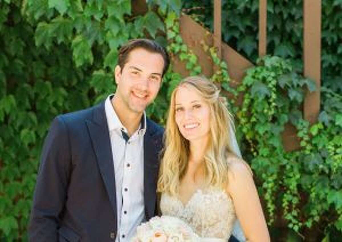 New Canaan: Jack Downing recently wed Olivia Jacobsen on a ranch in California. Jack Downing wed Olivia Jacobsen on June 30. - Photo by Sarah Ellefson Photography