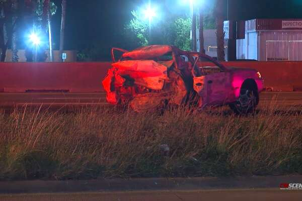 Man dies in fiery crash after car stops on the North Freeway