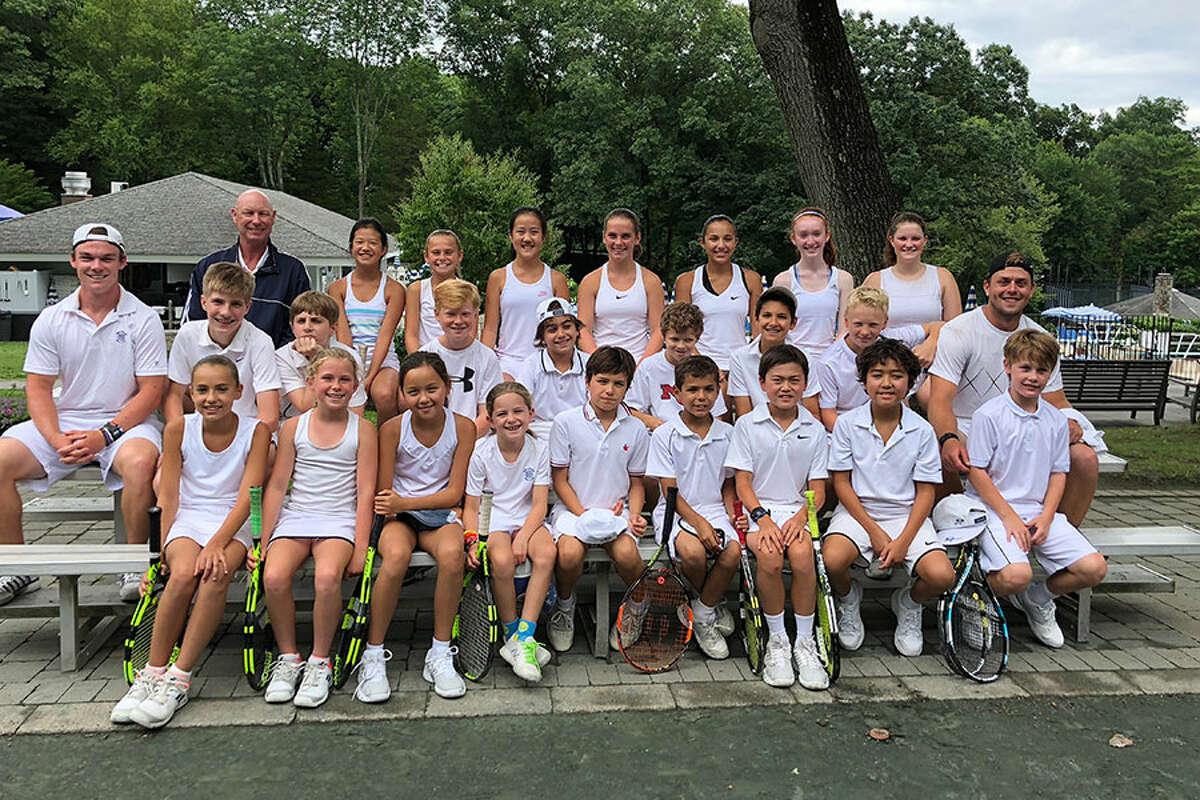 The New Canaan Field Club Junior Tennis Team.