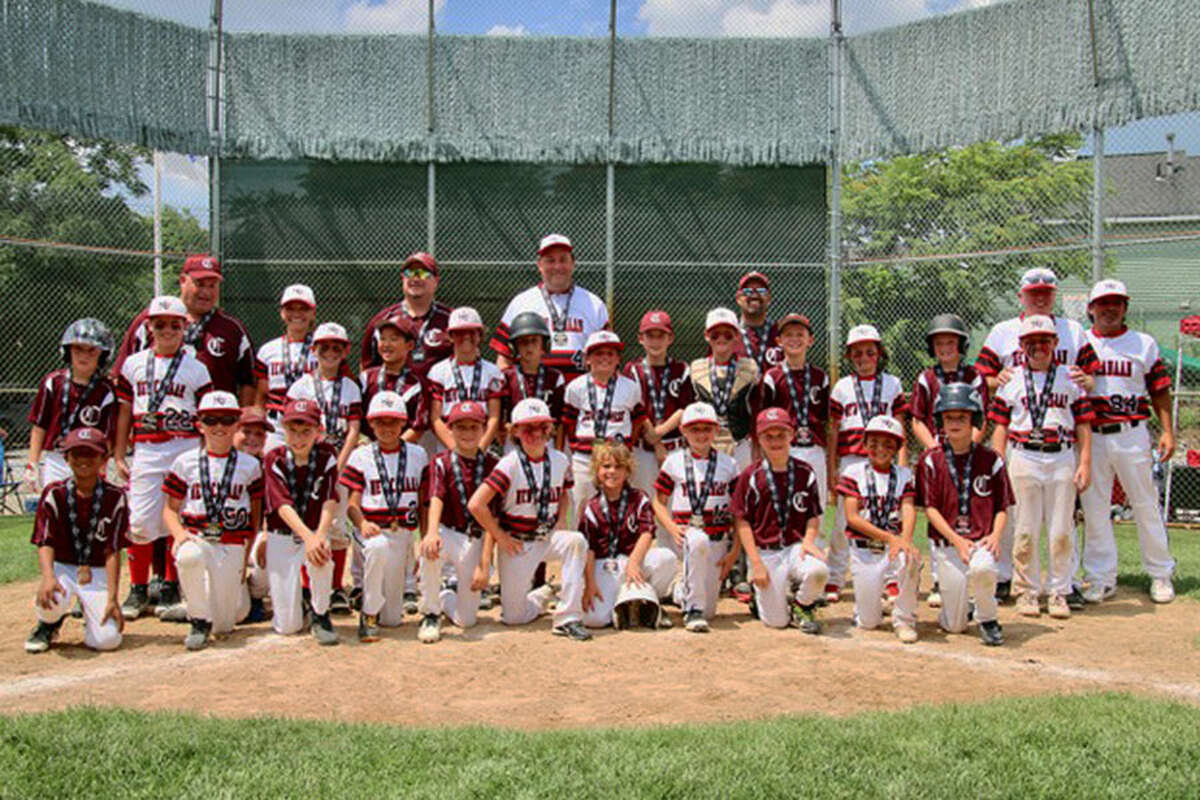 The New Canaan 9-year-old All-Stars after winning the Cal Ripken New ENgland championship on Saturday.