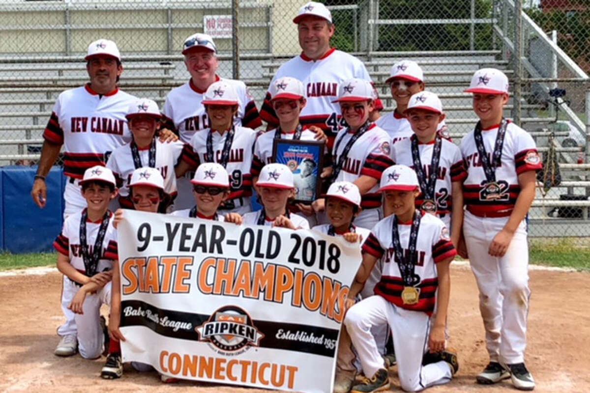 The New Canaan 9-year-old All-Stars after winning the state championship in Danbury earlier this month.