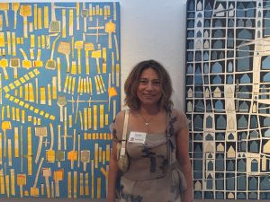 An art exhibit called 'Art of the Northeast' has opened for a run at the Silvermine Arts Center in New Canaan. Sofie Swann of Stamford was Best in Show at the 68th annual Art of the Northeast exhibition at Silvermine. — Contributed photo
