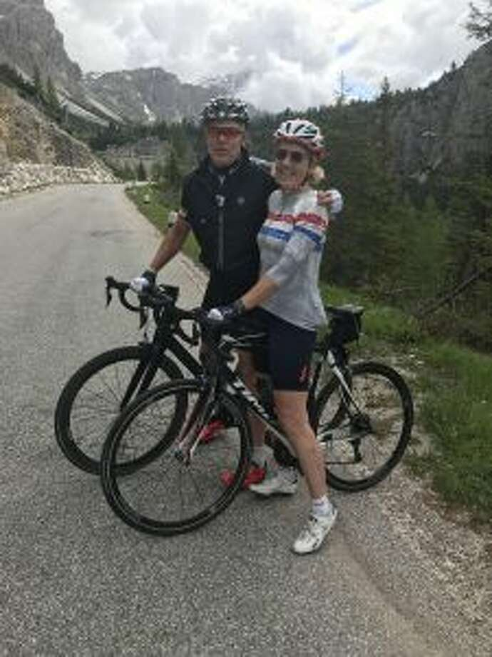 New Canaan: A couple recently completed the Lionheart Cycling Tour,