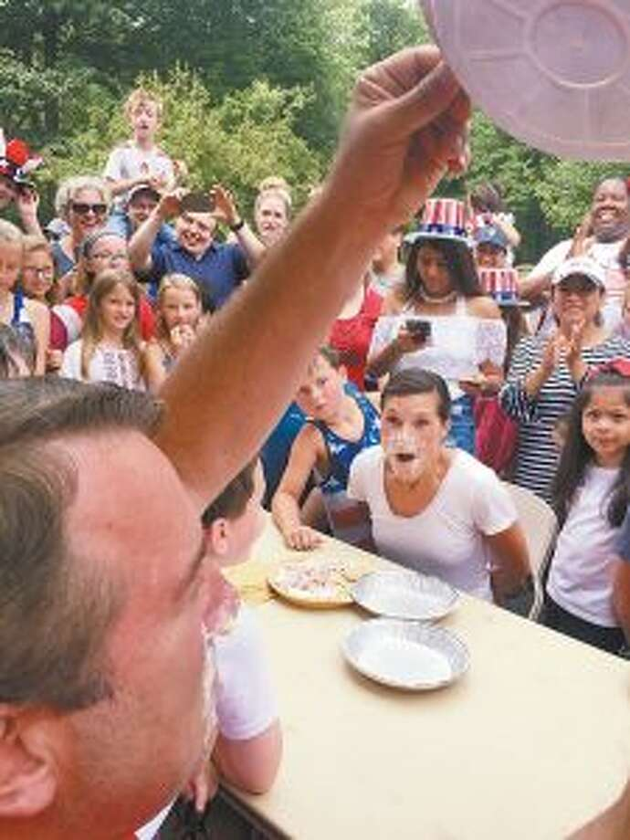 A New Canaan Church marked the Fourth of July with a pie content, and flag ceremony.