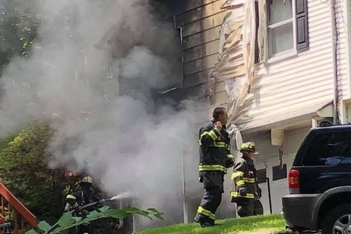 A scene from the Nick Colabella house fire in Monroe, Conn. July 12. - Photo from GoFundMe