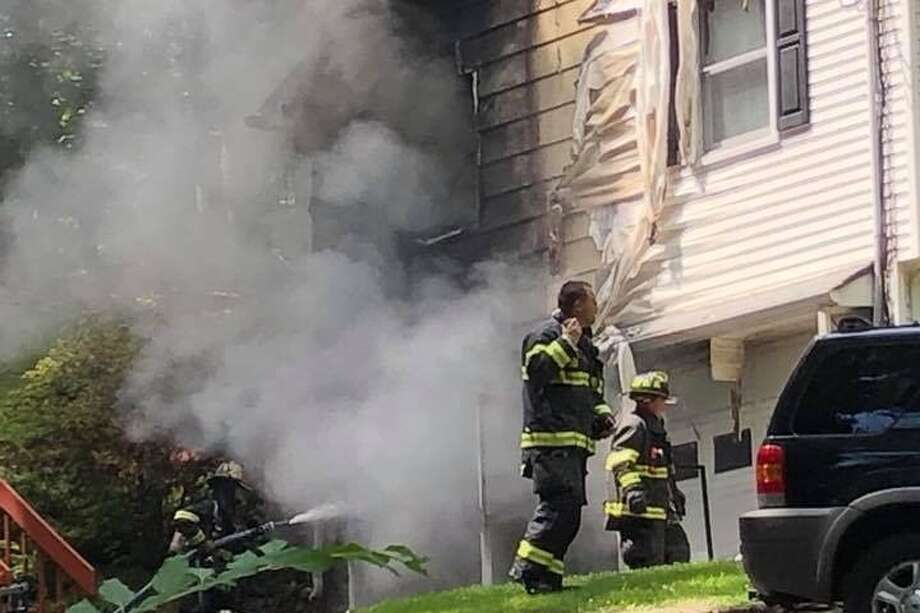 A scene from the Nick Colabella house fire in Monroe, Conn. July 12. — Photo from GoFundMe