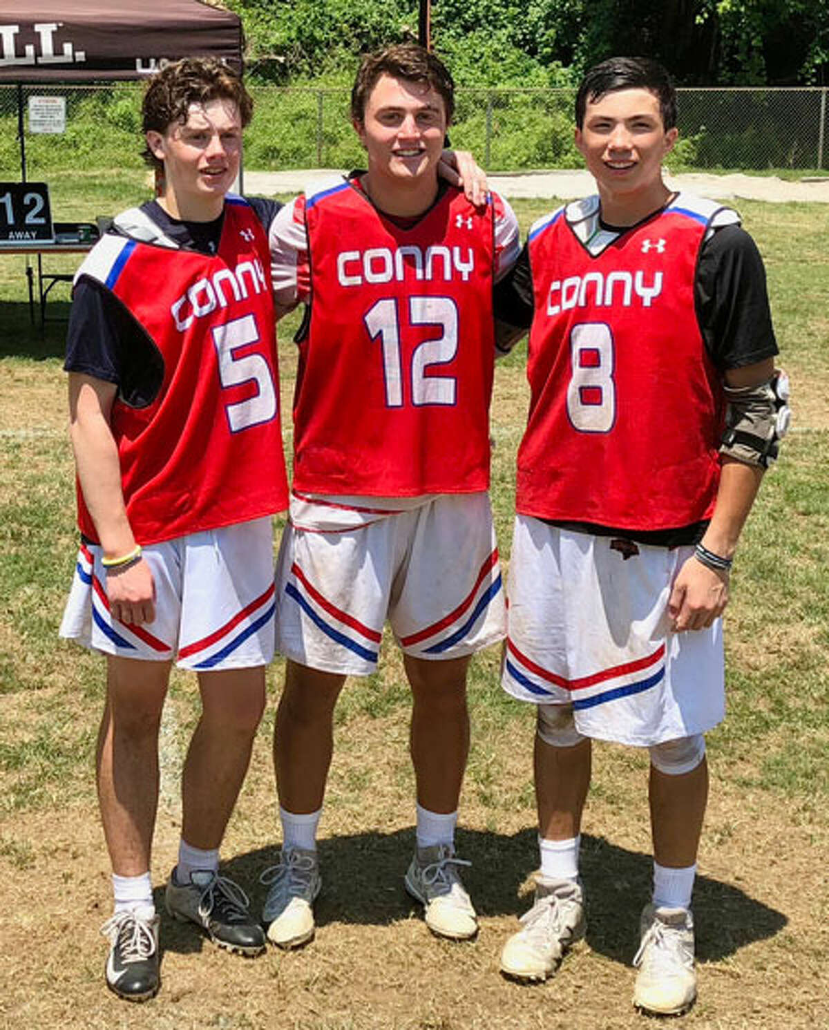 From left, New Canaan's Liam Griffiths, Quintin O'Connell, and Justin Wietfeldt played in the Under Armour Underclass national tournament in Baltimore.