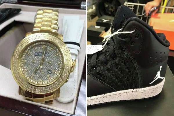 San Antonio police are auctioning off 100 items that are forfeited property. Some of those items include a Gucci watch, Air Jordan sneakers and even gold-colored mouth grills.