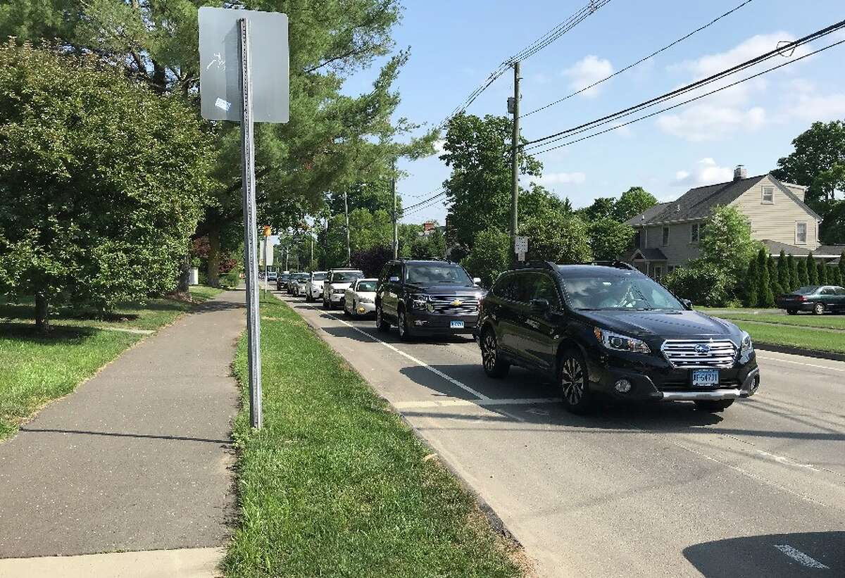 Traffic is seen heading south on South Avenue / State Rt. 124, toward Gower Road, on Wednesday, July 11. - Sarah Klearman photo