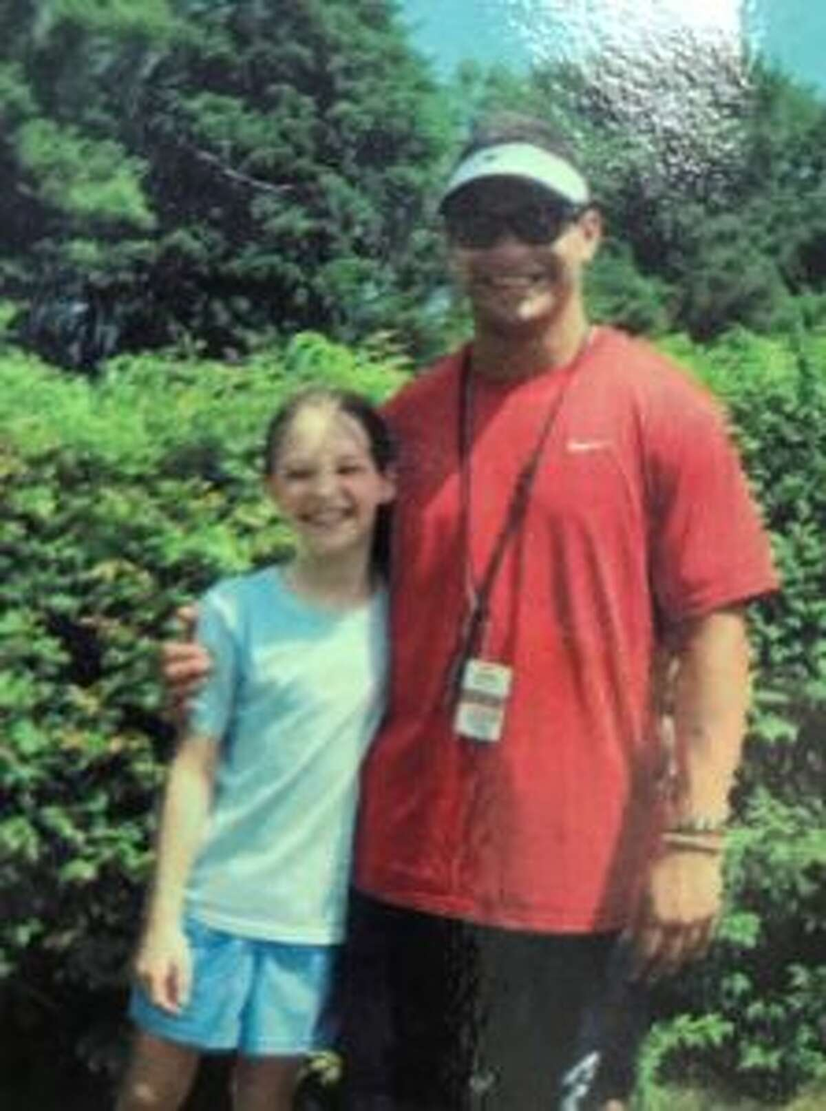 Katie Kennelly is shown with Bobby Rushton when she was one of his third grade students. - Contributed photos