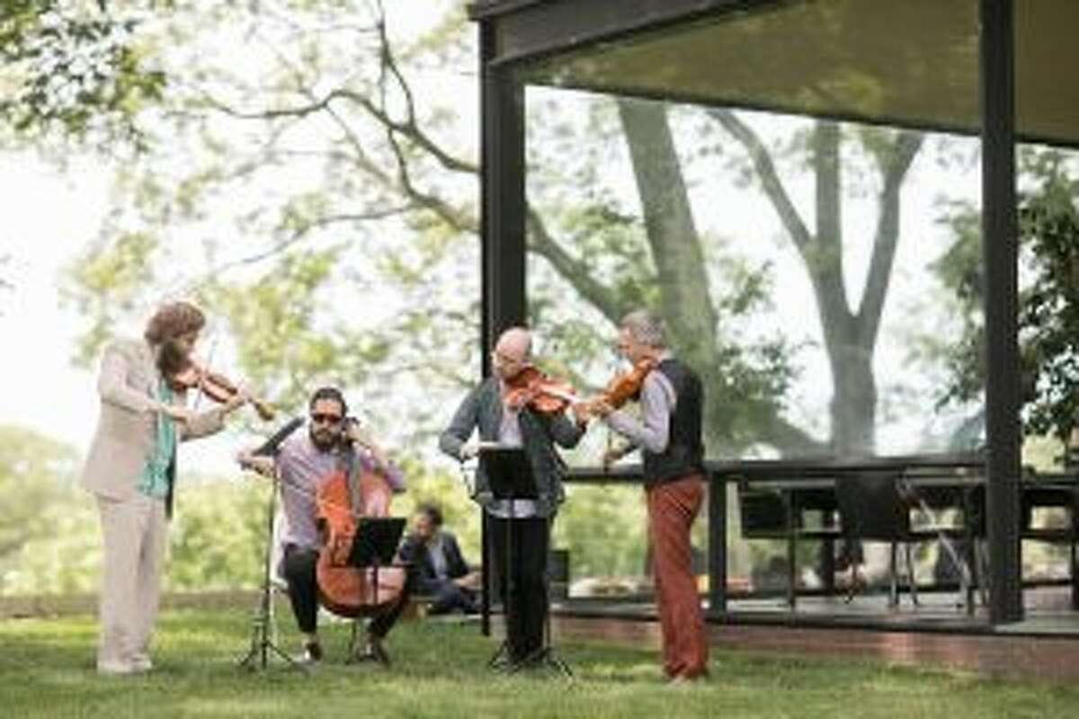 New Canaan: The Glass House's Summer Party recently featured a wide array of art. The Brooklyn Rider band at a corner of The Glass House. - Contributed photo by Neil Landino