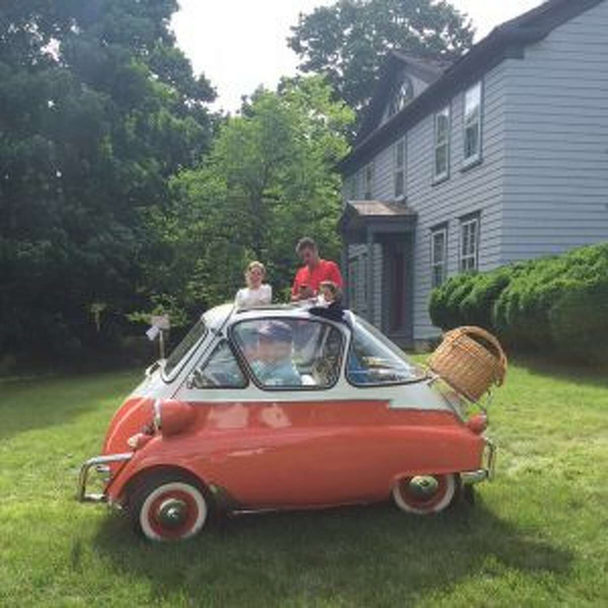Tom O'Neill sits in a 1950 Isetta, a second place winner at the June 3 event.- Contributed photo