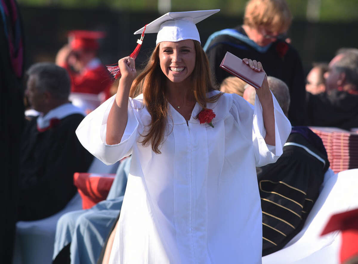 Scenes from the New Canaan High School graduation ceremony for the Class of 2018 on June 21. - Dave Stewart photo