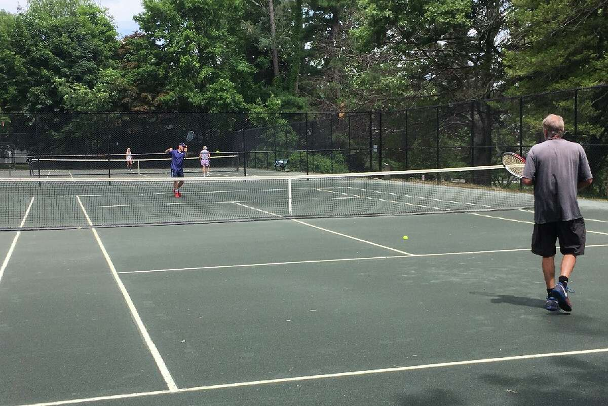 Mead Park tennis courts were in use Friday, June 22, at noon. - Greg Reilly photo