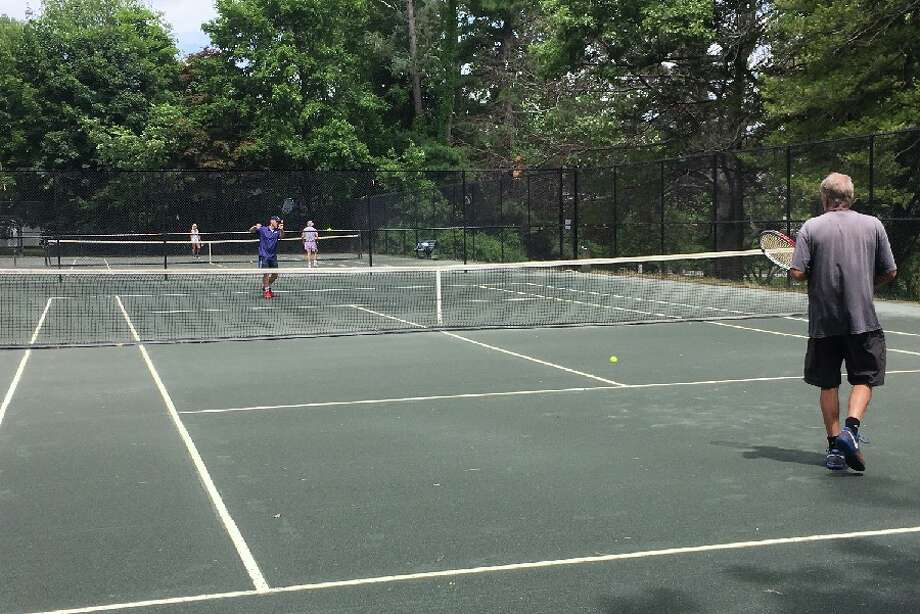 Mead Park tennis courts were in use Friday, June 22, at noon. — Greg Reilly photo