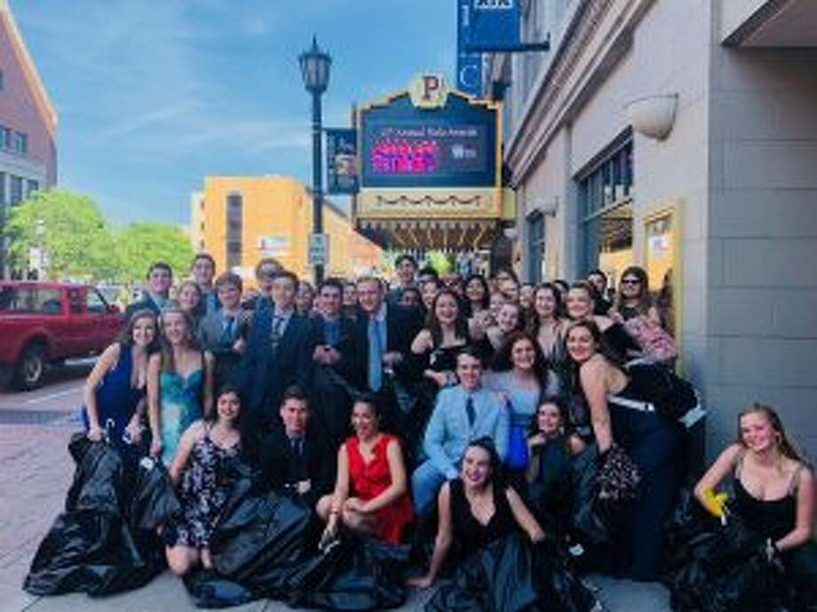 New Canaan High School theater students recently attended the Halo Awards.
