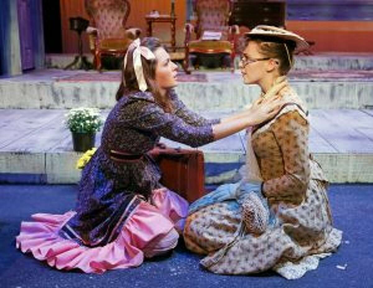 Claire Leville, left, was nominated for Supporting Actress in The Miracle Worker and Sadie Seelert for Leading Actress in The Miracle Worker. - Contributed photo