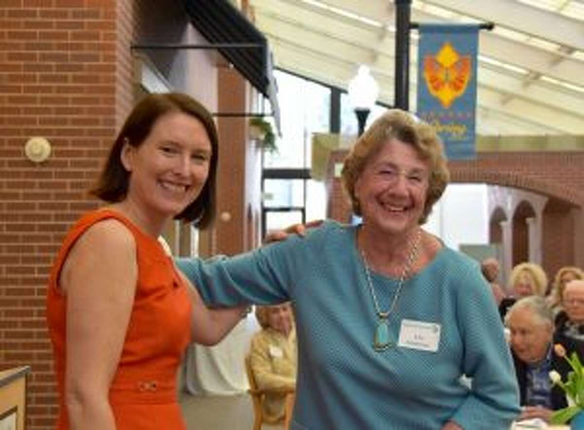 New Canaan: The Waveny LifeCare Network recently honored their volunteers for their work. Stella Clarke, Waveny's director of volunteers with long-time volunteer, Lila Coleman, who was recently honored for 35 years of service to Waveny. - Contributed photo