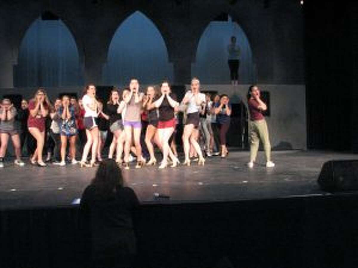 The New Canaan High School Theatre Sister Act cast is shown. - Contributed photo