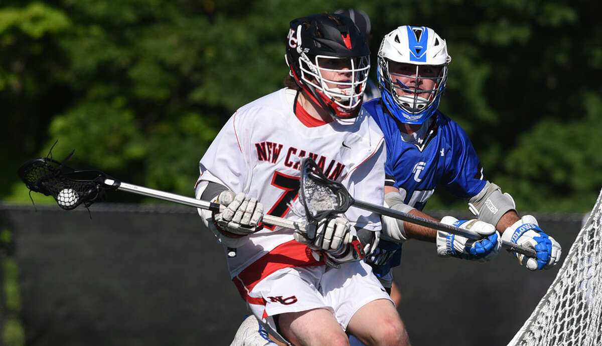 Scenes from New Canaan's 17-3 win over Ludlowe in the first round of the CIAC Class L tournament on May 23. - Dave Stewart photo