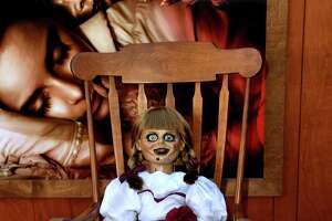 A film prop is shown at the premiere of Warner Bros. Pictures and New Line Cinema's 'Annabelle Comes Home' at Regency Village Theatre on June 20, 2019 in Westwood, California.