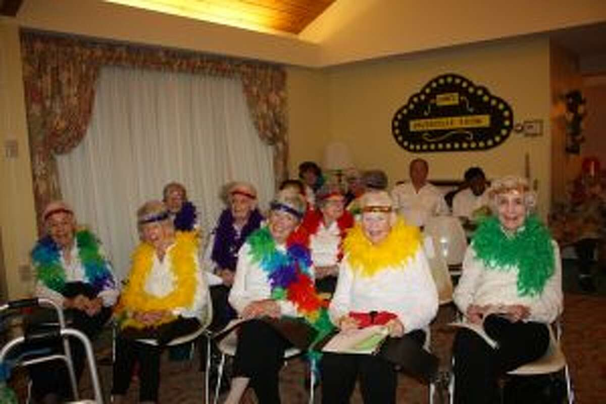 New Canaan: Inn residents attended the annual Vaudeville show April 24, 2018. - Contributed photo