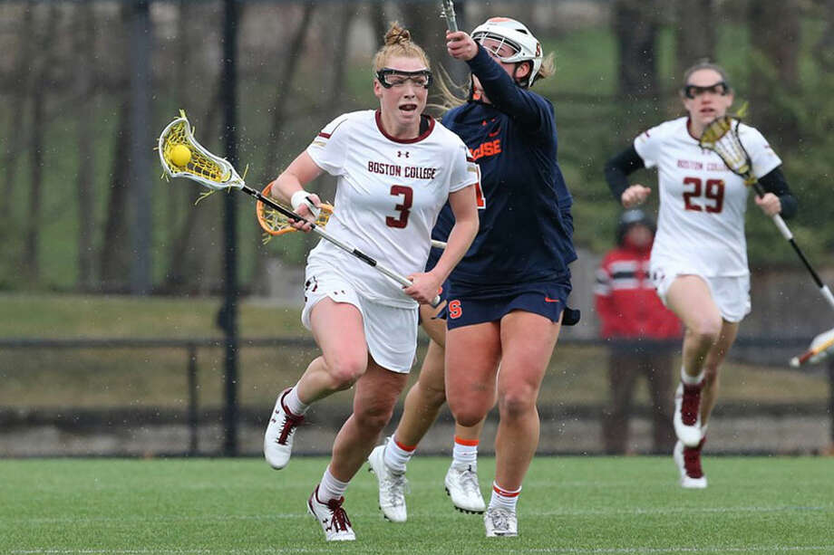 Elizabeth Miller (3) of Boston College in action for the Eagles last season. — Boston College Athletics/BCEagles.com photo