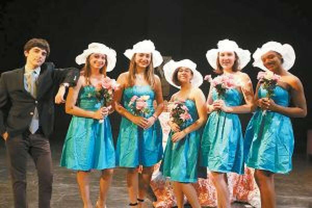 The theater department at St. Luke's School recently received the most Halo Awards nominations throughout the state for the second year in a row. St. Luke's Five Women Wearing the Same Dress received five of the school's 21 Halo Awards nominations including the following for New Canaan resident Katie Libman '19 for Best Comic Performance in a Play. - Photo by Valerie Parker