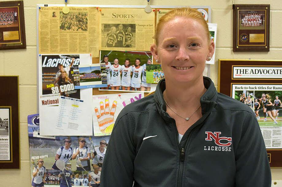 New Canaan girls lacrosse head coach Kristin Woods.