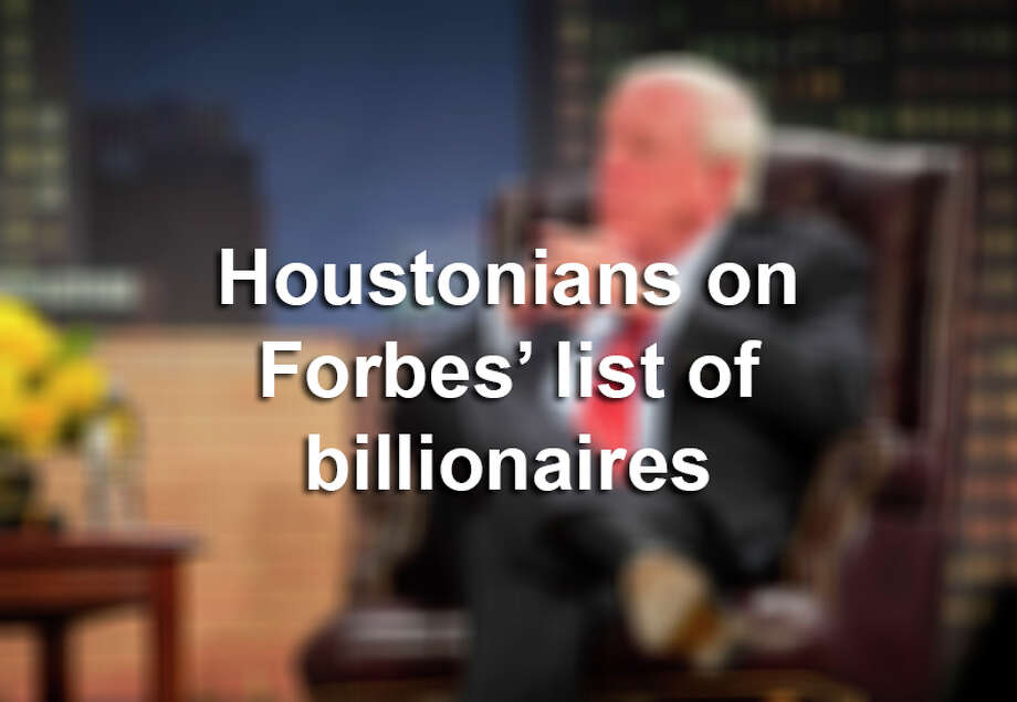 >> Click through the following gallery to see the Houstonians that cracked Forbes' list of billionaires for 2019. Photo: Houston Chronicle / @ 2000 Annie Mulligan & the Houston Chronicle
