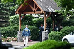 FBI agents and members of the U.S. departments of Homeland Security and Commerce at Turbine Services Ltd., in Wilton, NY, on Tuesday, June 25, 2019 as part of what the FBI describes as an ongoing investigation.