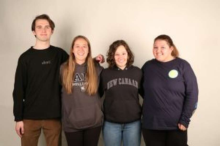 The student artists, from left,Timothy Scranton, Eliza Pohle, Kate Lindberg and Sammi Smith. — Contributed photo