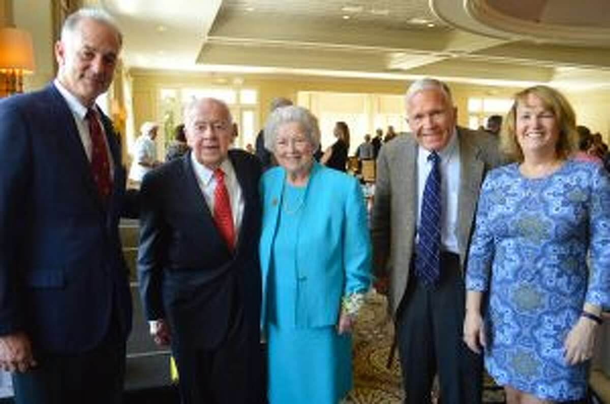Honorees, above, from left: Chris Schipper, Leo Karl Jr., Kathie Karl, Tom McLane, and Meg Domino. - Contributed photos by Jarret Liotta