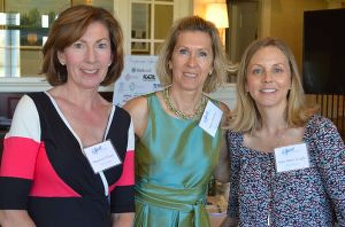 Luncheon committee members Maureen O'Leary, Kajsa Sheibley and Anne-Marie Knight. [caption id=