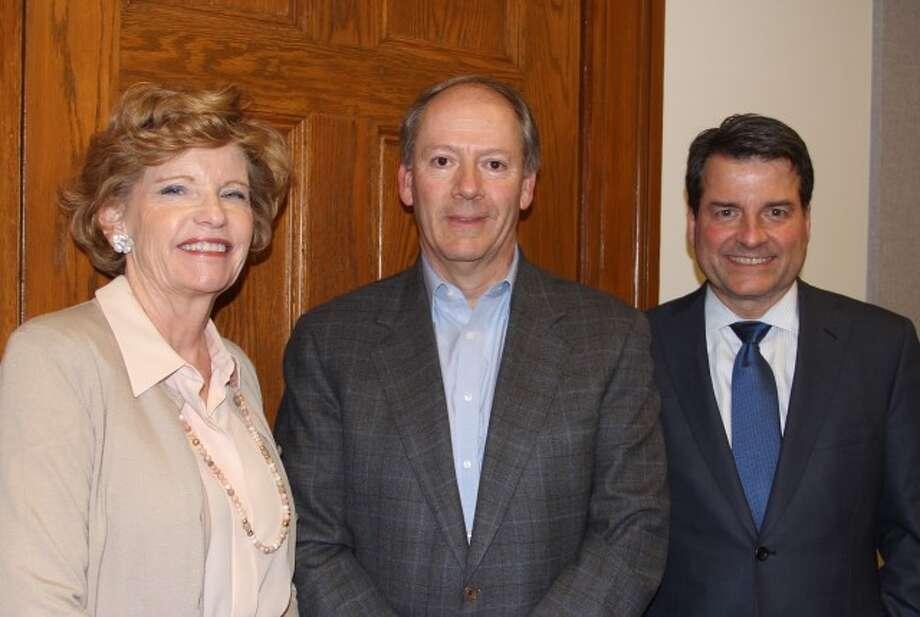 Board of Finance officers: Judy Neville, secretary; Todd Lavieri, chairman; and Bob Spangler, vice chairman.