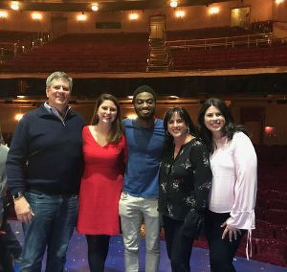 "New Canaan: The ABC 'family' recently saw a 2010 graduate in Broadway's ""Frozen."""