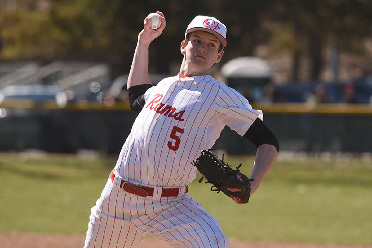 Kyle deMayo pitched the first four innings of the Rams' 5-4 victory over Trinity Catholic on Friday. - Dave Stewart photo