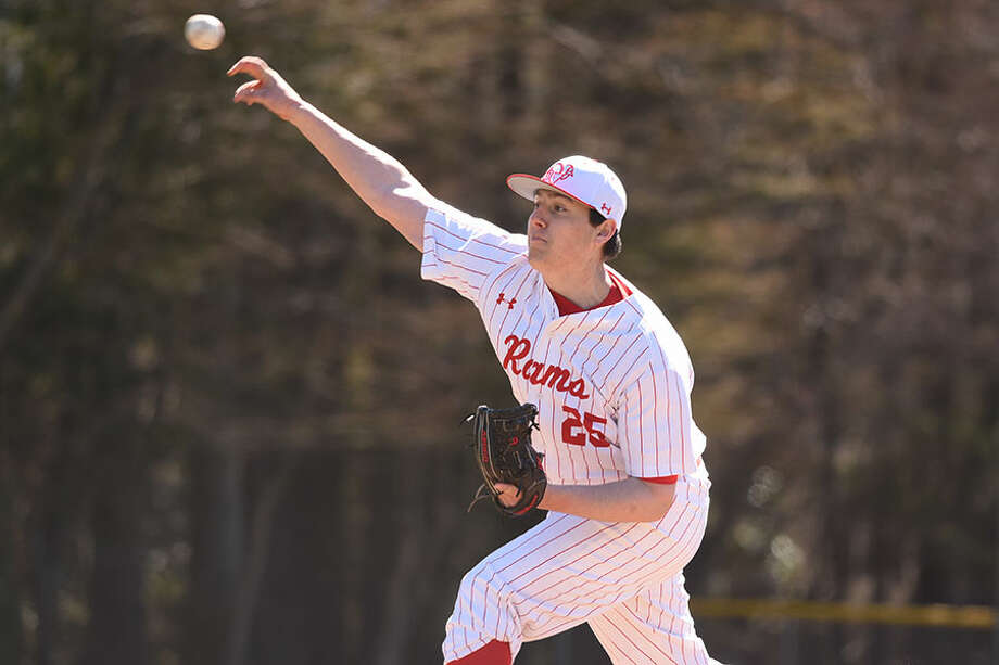 Zach Lopez pitched three innings of scoreless relief during New Canaan's 4-1 win over Stamford on Wednesday. — Dave Stewart photo