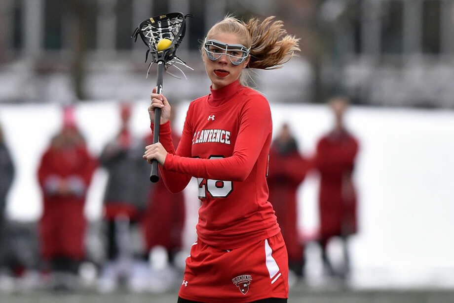 New Canaan's Campbell Armstrong, a freshman with the St. Lawrence University women's lacrosse team, was named the Liberty League Rookie of the Week for the past two weeks. — St. Lawrence Athletics/Tara Freeman photo