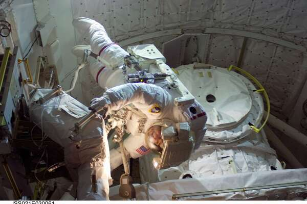 Foreman in action during a space walk.