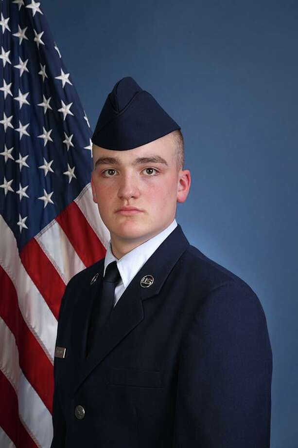 U.S. Air Force National Guard Airman 1st Class Liam P. Norton of Colebrook recently graduated from basic military training at Joint Base San Antonio-Lackland, San Antonio, Texas. Photo: Contributed Photo