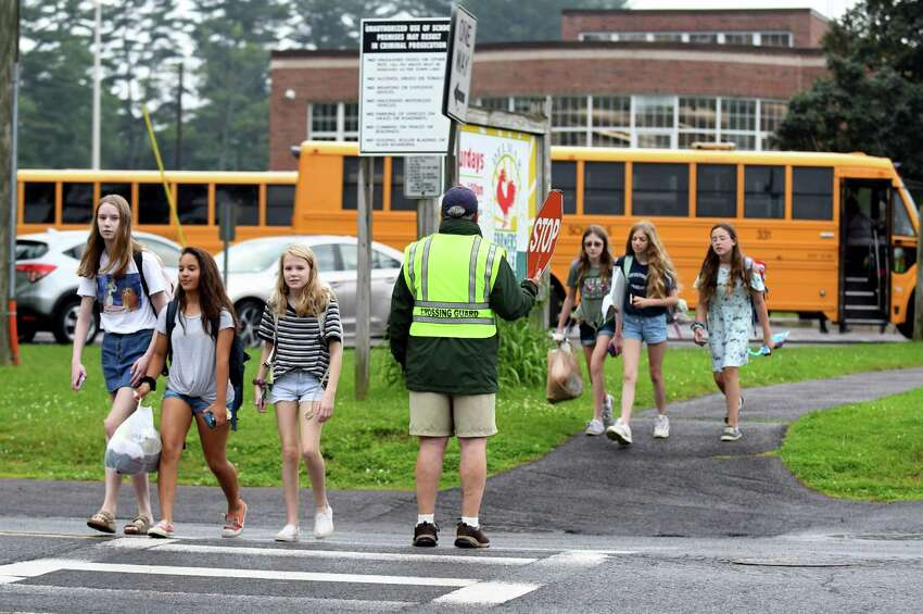 Students have early release at Bethlehem Middle School on Tuesday, June 25, 2019, in Bethlehem, N.Y. (Catherine Rafferty/Times Union)