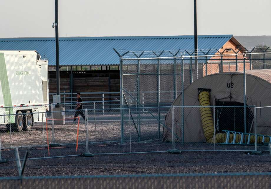 A temporary facility set up to hold immigrants is pictured at a US Border Patrol Station in Clint, Texas, on June 21, 2019. - Lawyers who were able to tour the facility under the Flores Settlement, which governs detention conditions for migrant children, said they witnessed inhumane conditions of overcrowding, and about 250 children being held over the limit of 72 hours, some saying they were there for weeks in overcrowded cells. (Photo by Paul Ratje / AFP)        (Photo credit should read PAUL RATJE/AFP/Getty Images) Photo: PAUL RATJE/AFP/Getty Images