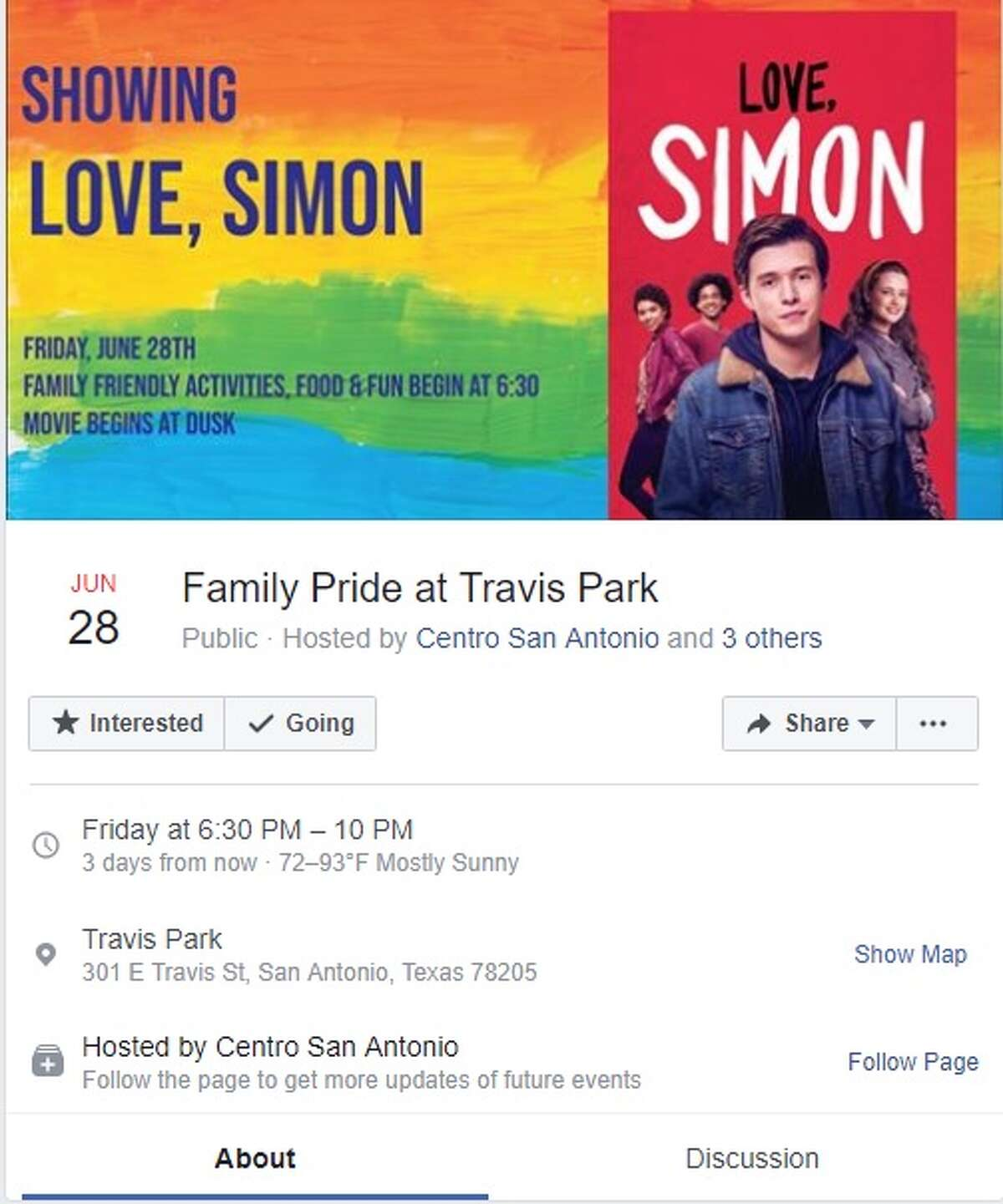 Family Pride at Travis Park is from 6:30 to 10 p.m. Friday, June 28 at Travis Park. Lawn games, screening of
