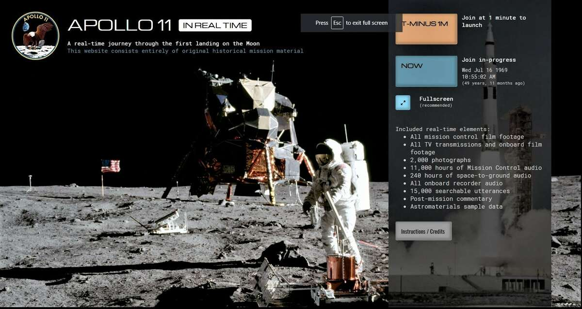 The Apollo 11 Real Time website features 2,000 photographs, 240 hours of space-to-ground audio, all onboard recorded audio, 15,000 searchable utterances, post-mission commentary and astromaterials sample data. But the centerpiece of the website is the 11,000 hours of mission control audio that has been synced to the mission clock for the first time.