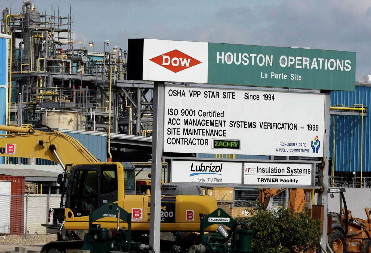 This Thursday, Dec. 10, 2015 photo shows a Dow Chemical plant in La Porte, Texas where a poisonous gas leak killed four workers. The plant has since closed.