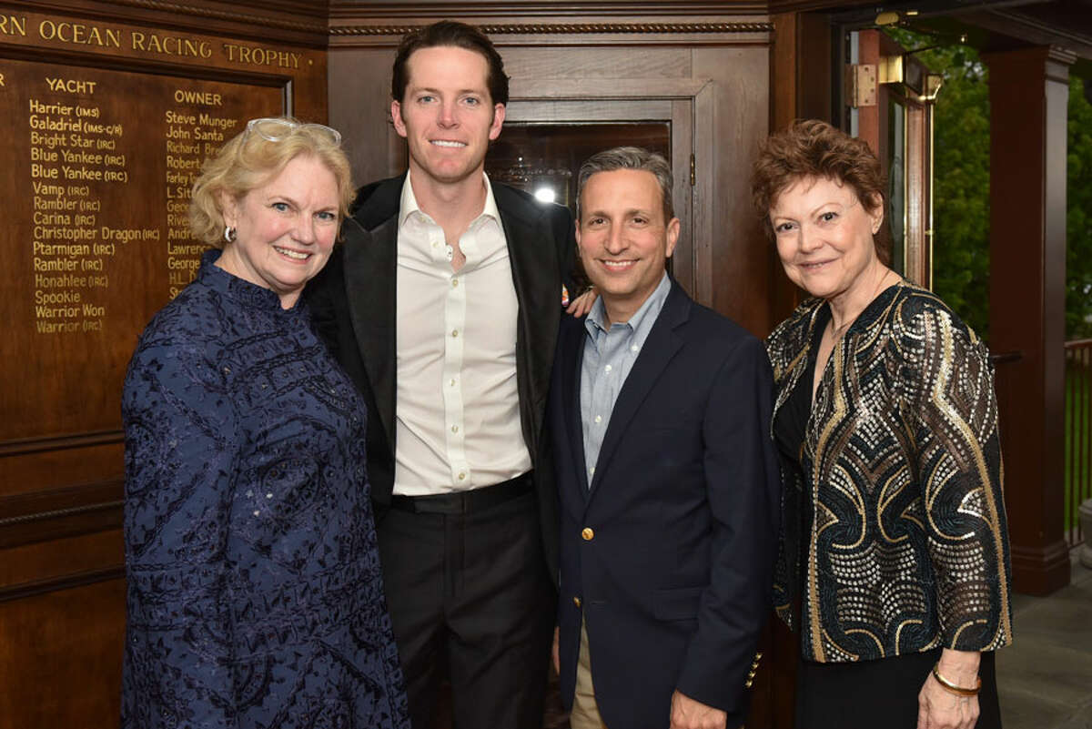 Rose-Marie Fox, Michael Yaeger, State Sen. Bob Duff and Sophia Gevas at Silvermine's Living Art Awards May 11 at the Stamford Yacht Club.Silvermine Arts Center / Contributed photo